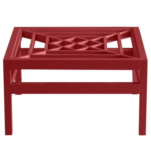 "Furniture - Southport 36"" Square Lacquer Coffee Table - Bolero Red (16 Colors Available)"