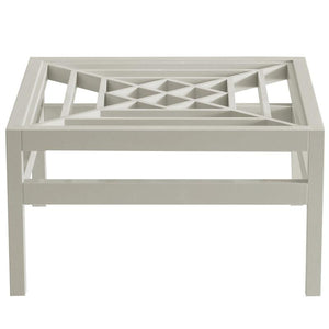 "Southport 36"" Square Lacquer Coffee Table - Grey (Additional Colors Available)"