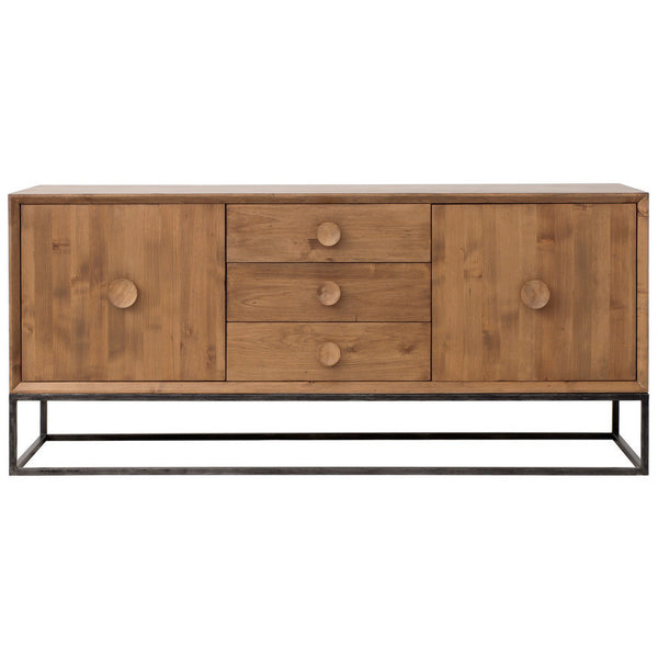 Furniture - Spencer Three Drawer Entertainment Media Console - Almond ( 28 Finish & 3 Frame Options )