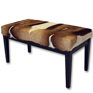 Furniture - Springbok Hide & Wood Bench - Large