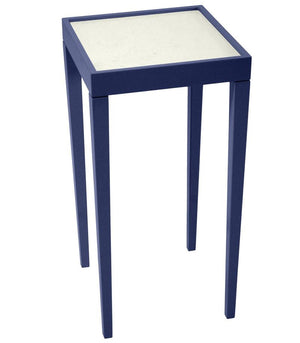 Furniture - Square Mini Lacquer Side Table - Navy Blue (16 Colors Available)