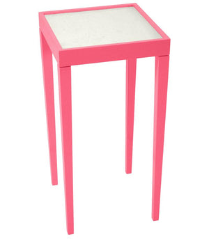 Furniture - Square Mini Lacquer Side Table - Pink (16 Colors Available)