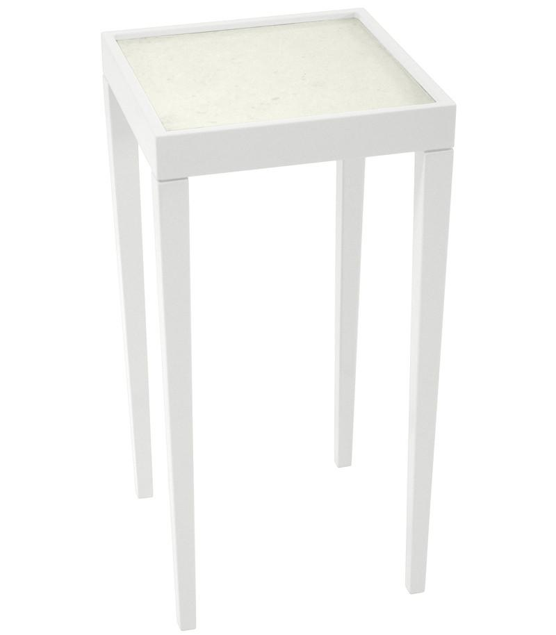 Furniture - Square Mini Lacquer Side Table - White (16 Colors Available)