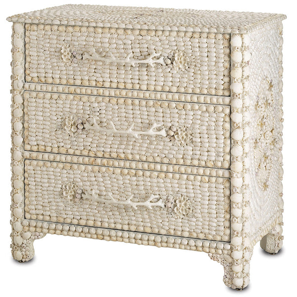 Furniture - Three-Drawer Seashell Collage Chest