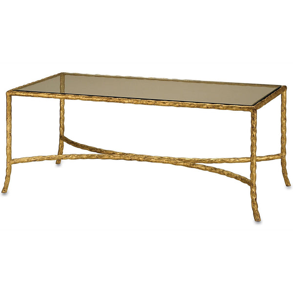 Furniture - Twist Coffee Table — Gold