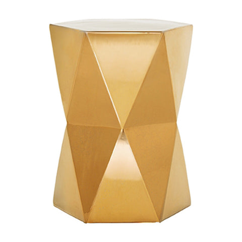 Garden Stools - Matrix Garden Stool - Gold