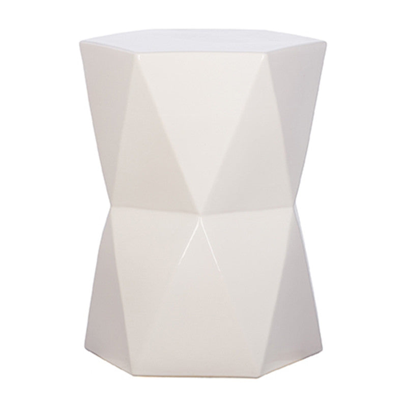 Garden Stools - Matrix Garden Stool - White