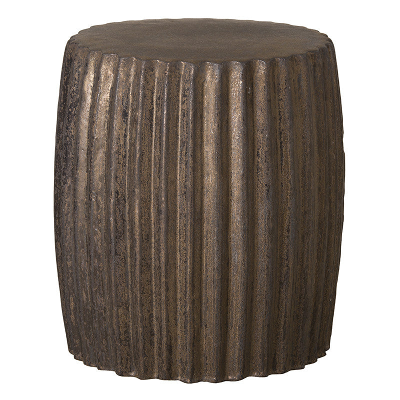 Garden Stools - Pleated Garden Stool - Bronze