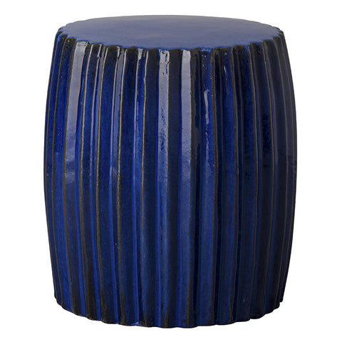 Garden Stools - Pleated Garden Stool - Electric Blue