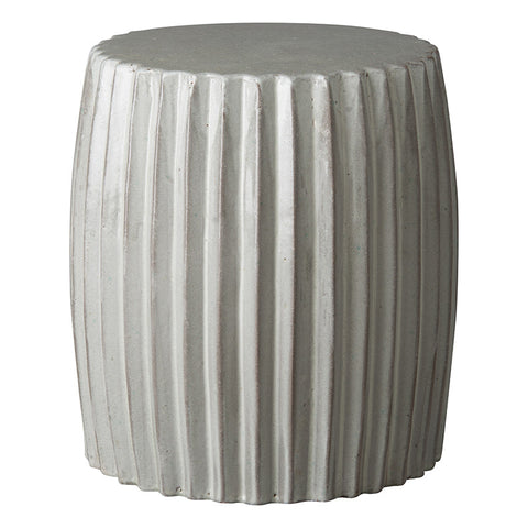 Garden Stools - Pleated Garden Stool - Grey
