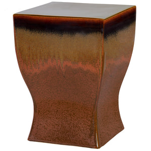 Garden Stools - Square Garden Stool - Brown Copper