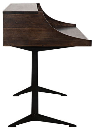 Croft Desk with Metal - Ebony Walnut