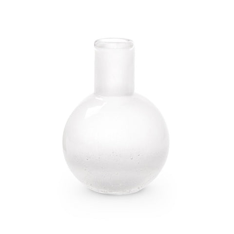 Bungalow 5 Small Mouth Blown Seeded Glass Vase – Clear