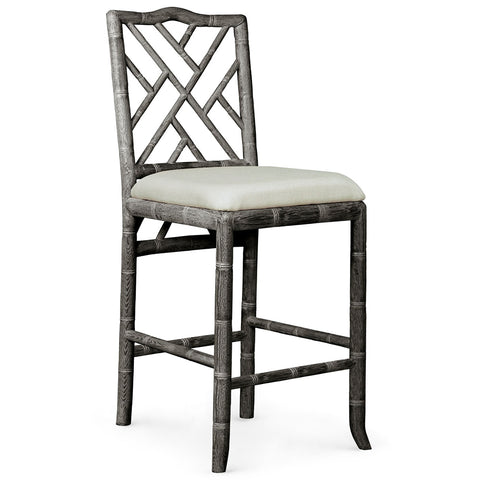 Bungalow 5 Chinoiserie Oak Counter Stool — Grey