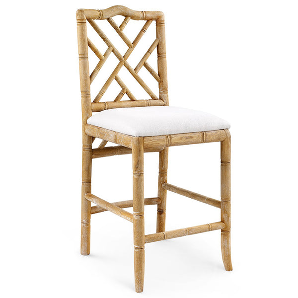 Bungalow 5 Chinoiserie Oak Counter Stool — Natural