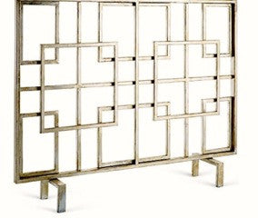 Interlocking Squares Fireplace Screen