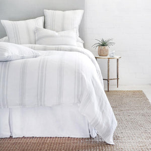 POM POM AT HOME JACKSON-WHITE/OCEAN-DUVET-COVER