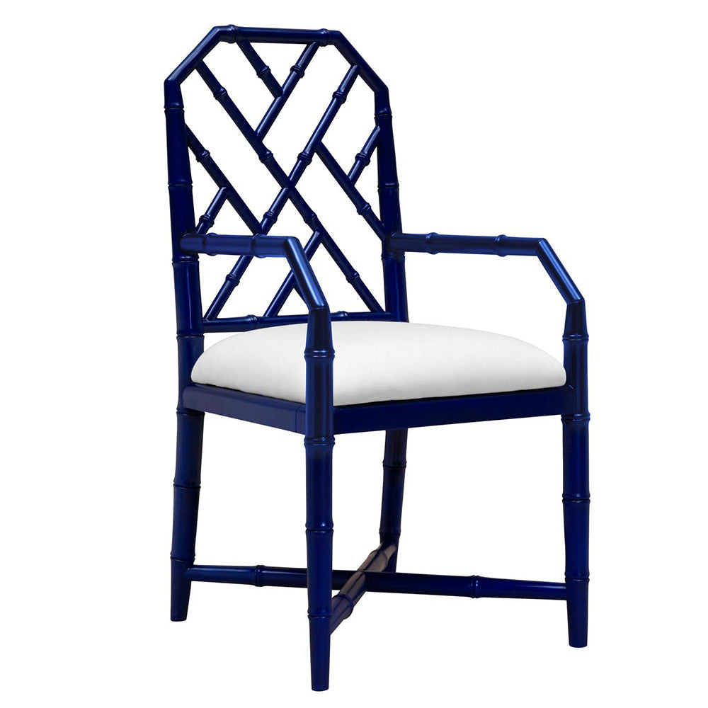 Bungalow 5 Regency Arm Chair — Navy Lacquer