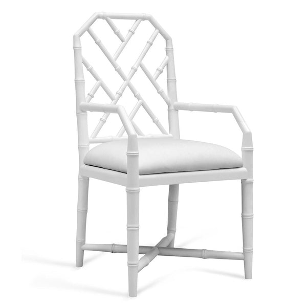 Bungalow 5 Regency Arm Chair — White Lacquer