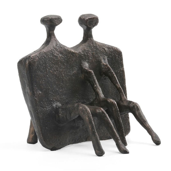 Bungalow 5 Bronze Abstract Seated Figures Sculpture