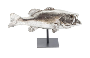 Large Mouth Bass Fish, with Stand