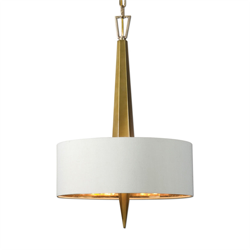 Lighting - Art Deco Faceted Obelisk Chandelier - Gold