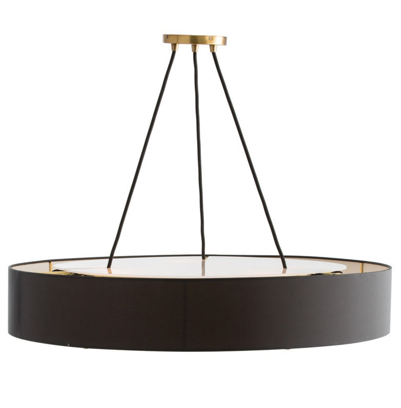 Lighting - Arteriors Marsha Round Chandelier - Sleek Black