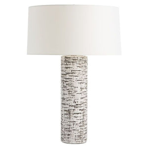 Lighting - Arteriors Nico Textured Table Lamp - Ivory & Charcoal