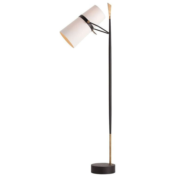 Lighting - Arteriors Yasmin Floor Task Lamp - Black Iron
