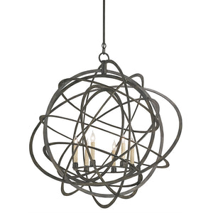Lighting - Atomic Iron Sphere Chandelier