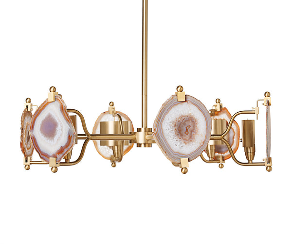 Lighting - Ball Agate Chandelier - Brass