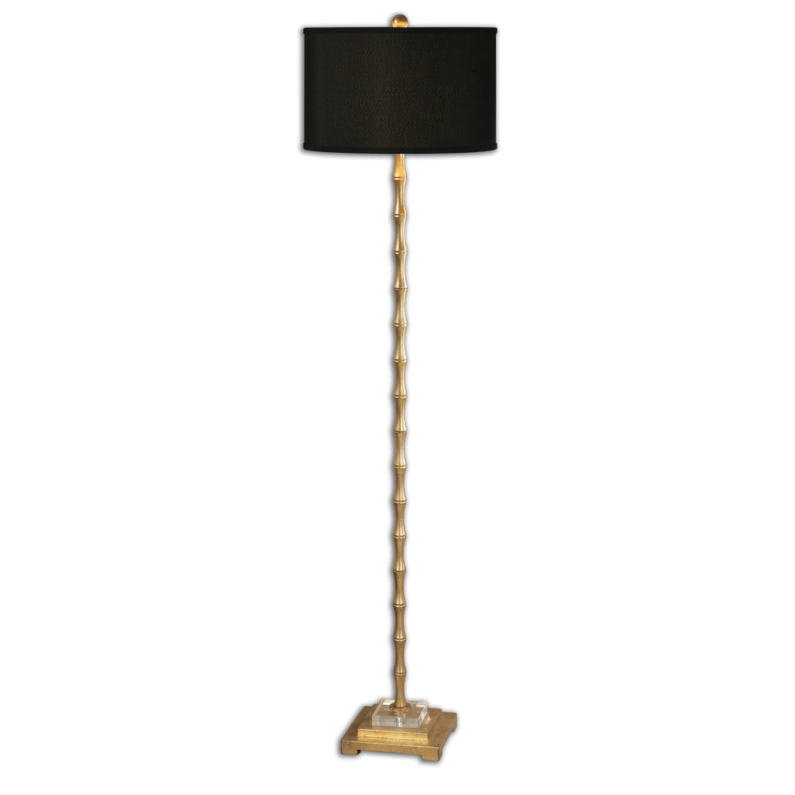 Lighting - Bamboo Floor Lamp - Antique Gold