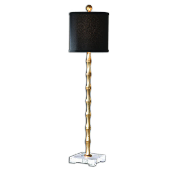 Lighting - Bamboo Table Lamp - Antique Gold