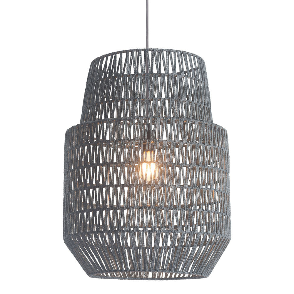 basket pendant light. Lighting - Basket Pendant Light \u2014 Woven Paper \u0026 Metal