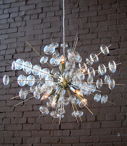 Lighting - Bubbles Modern Brass & Glass Chandelier