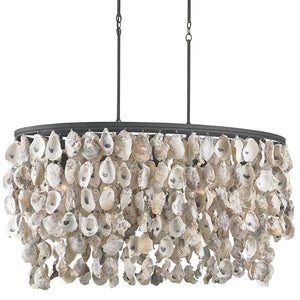 Lighting - Cascading Oyster Shells Round Chandelier