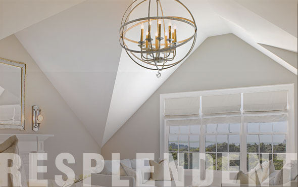 Lighting - Crystal Drop Large LeMonde Sphere Chandelier (8 Finishes Available)