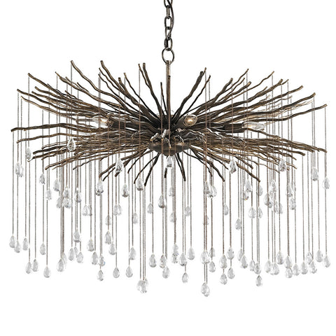 Lighting - Dew Drops Chandelier – Iron & Crystal