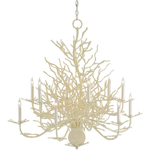 Lighting - Faux Coral Chandelier —Large