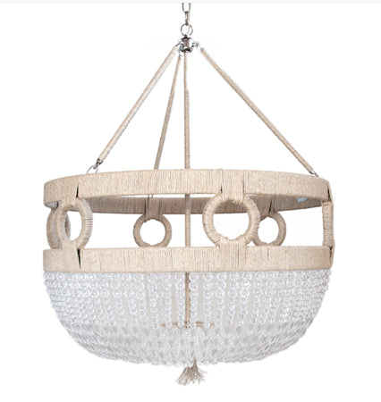 Lighting - Frankie Malibu Beaded Chandelier - Clear Faceted Beads