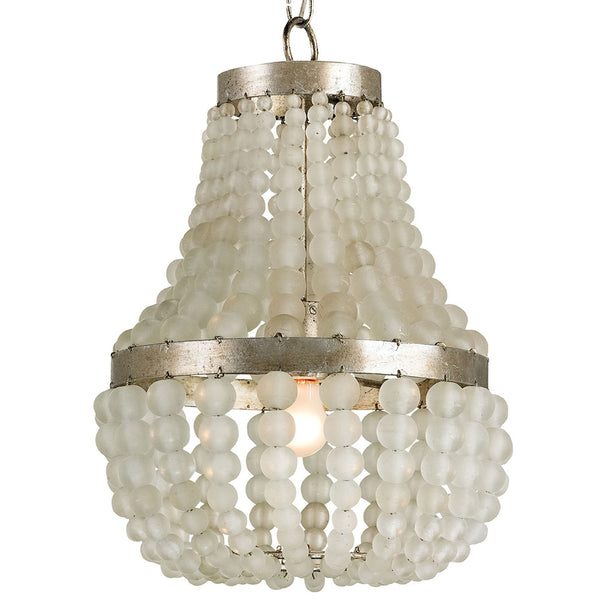Lighting - Frosted Beads Crystal Chandelier - Small