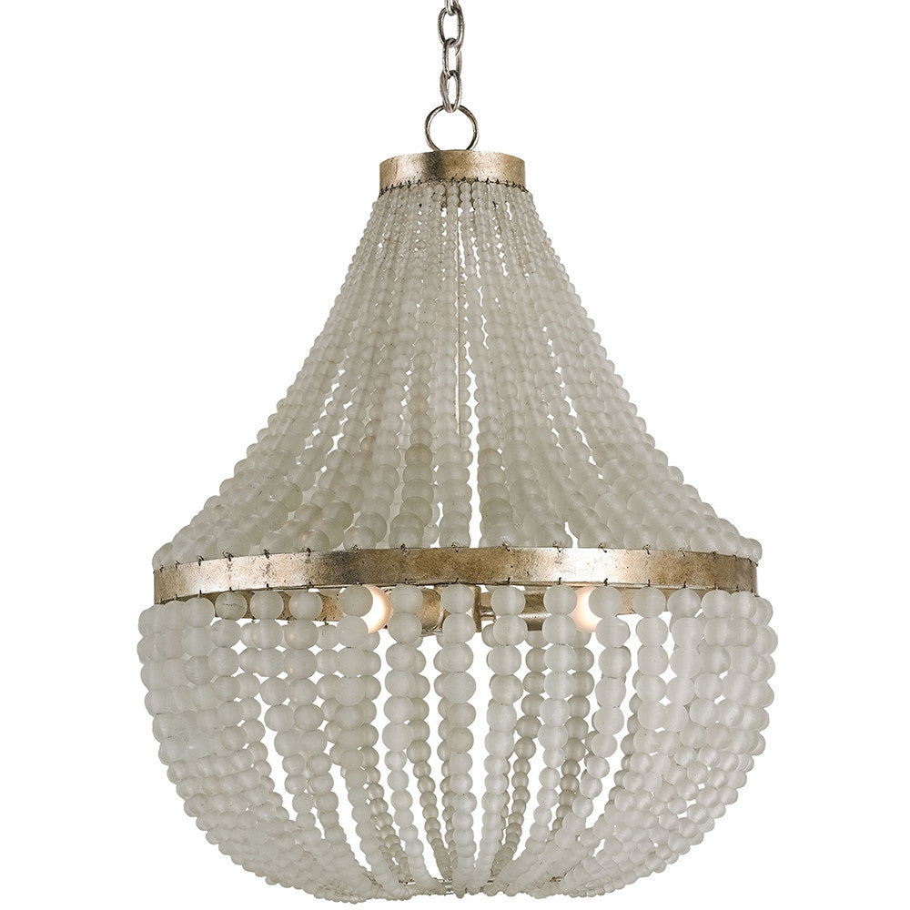 Currey And Company Frosted Crystal Beads Chandelier Large Scenario Home
