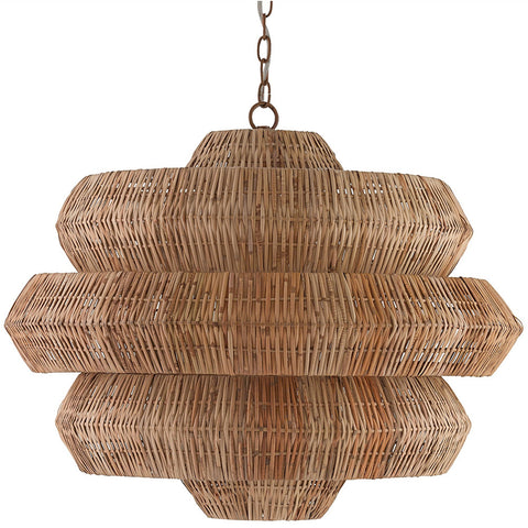 Lighting - Geometric Rattan Chandelier