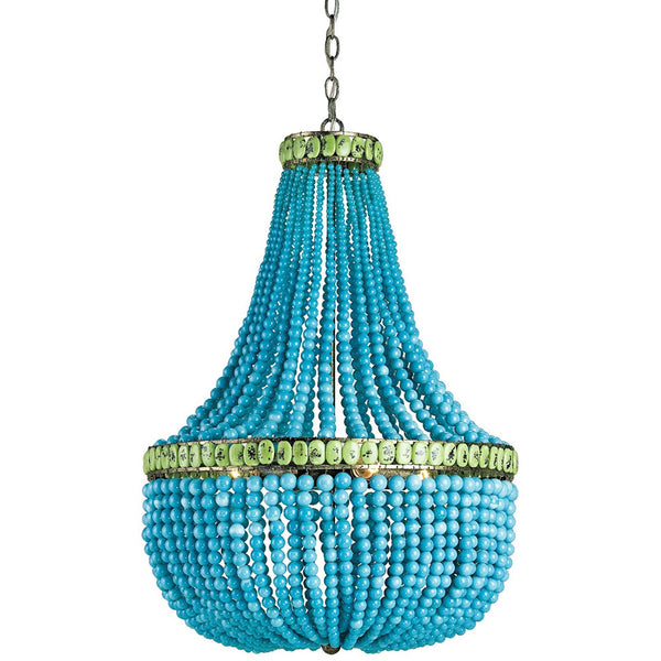 Lighting - Glass Beads Empire Chandelier — Turquoise And Jade