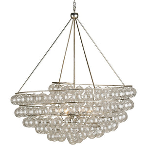 Lighting - Glass Bubbles Spiral Chandelier