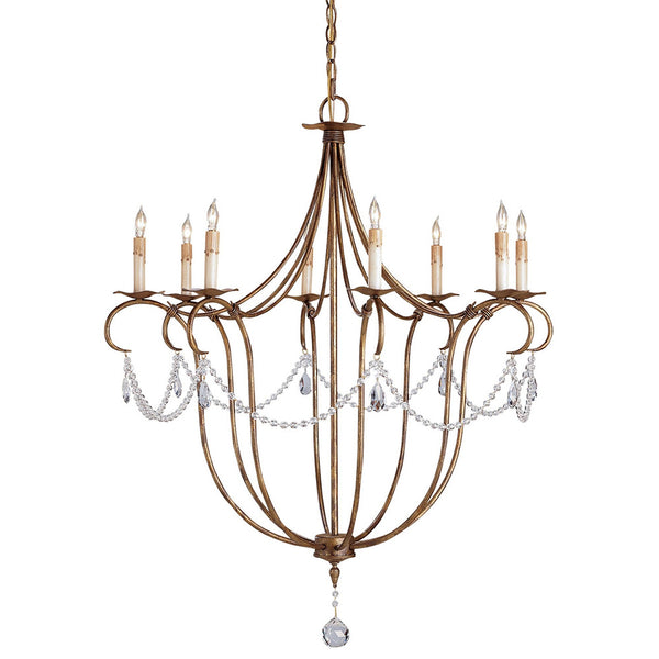Lighting - Graceful Crystal Swags Gold Chandelier — Large