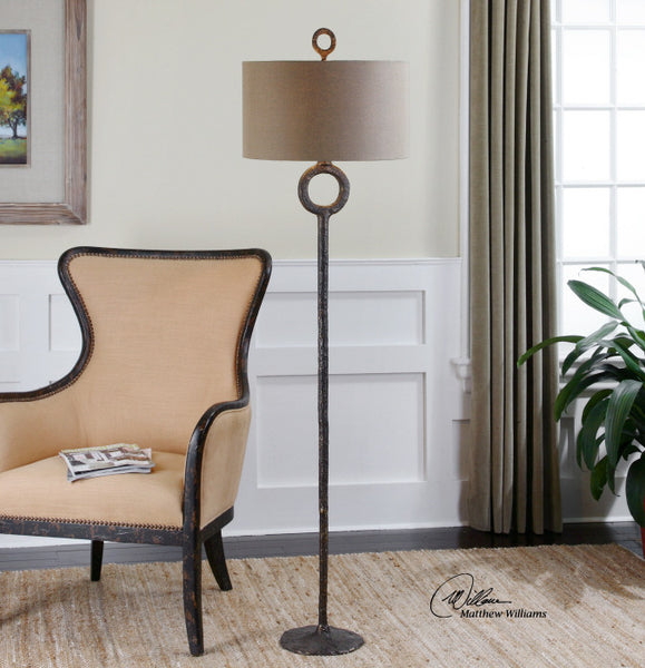 Lighting - Hammered Iron Floor Lamp