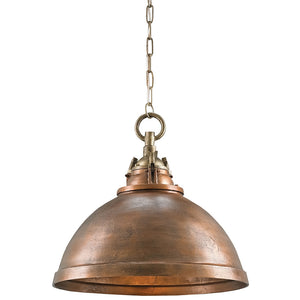 Lighting - Industrial Half-Globe Pendant Light — Copper