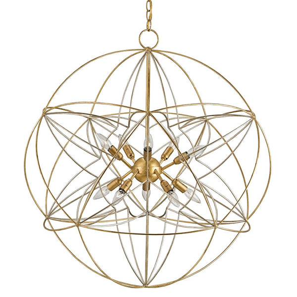 Lighting - Interlocking Orbs Chandelier — Silver & Gold