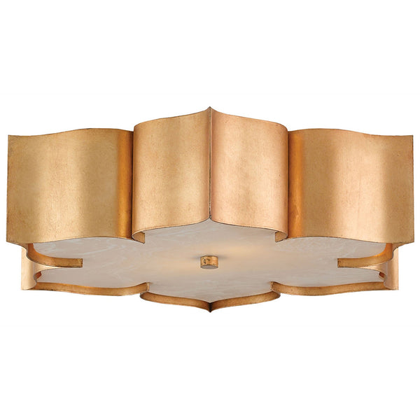 Lighting - Lotus Flush Mount Light – Antique Gold
